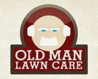 Old Man Lawn Care Logo Design