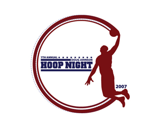 Doug Johnson Hoop Night Logo Design