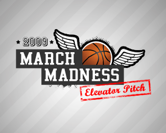 March Madness Elevator Pitch Promo Logo Design