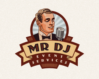 MR DJ Logo Design
