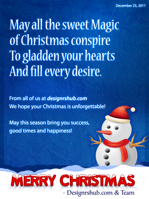 Greetings from Designrshub - A Merry Christmas to all!