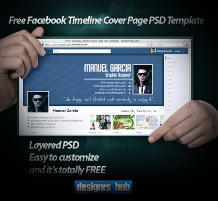 Download Free Facebook Timeline Cover Page PSD Template