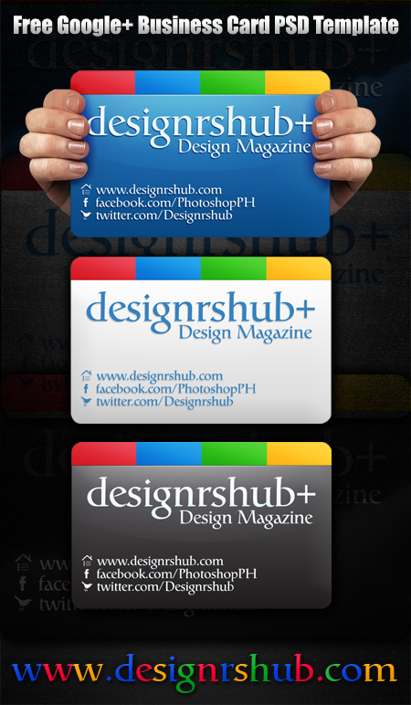 Google plus business card psd template free google plus business card psd template reheart Choice Image
