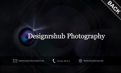 Free Photography Business Card (Back)