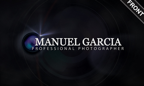 Free Photography Business Card (Front)