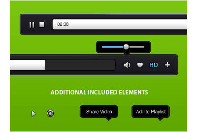 Video Player PSD Source