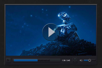 Dark Video Player PSD