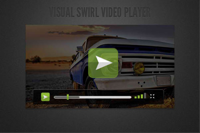 Free Video Player Skin PSD