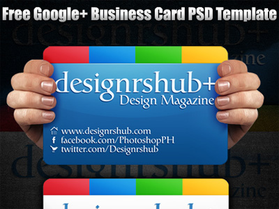 Free Google+ (Plus) Business Card PSD Template