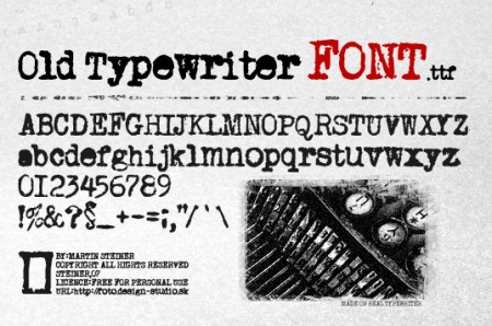 15 Most Downloaded Free Typewriter Fonts For You