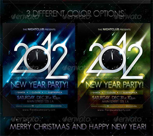 2012 New Year Party Poster