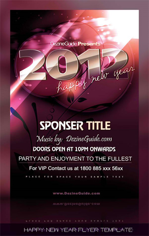 Free Happy New Year Flyer/Poster Template