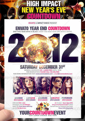 High Impact New Year's Eve Countdown Flyer