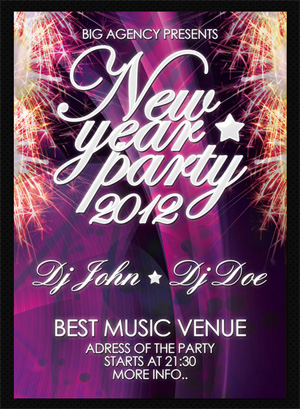 Free New Year Party Flyer TFree New Year Party Flyer Templateemplate