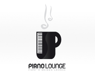 Piano Lounge Logo Design