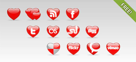 12 St.Valentine's Day Icons