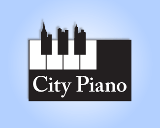 City Piano Logo Design
