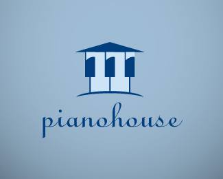 Piano House Logo Design