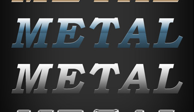 Photoshop Metal Text Effects