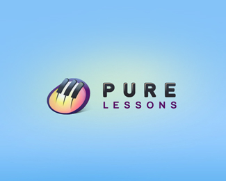 Pure Lessons Logo Design