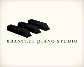 Brantley Piano Studio Logo Design