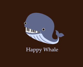 Happy Whale Logo Design