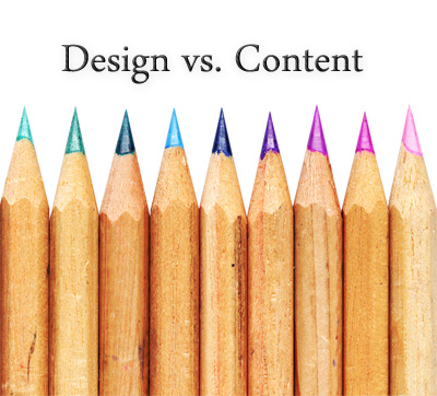 Content is more important than design