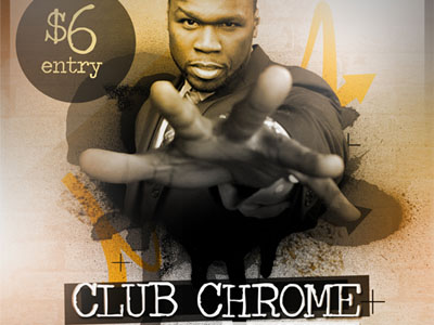 Free Club Chrome Hip Hop Flyer Template