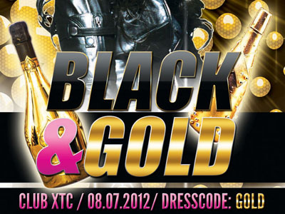 Free Black and Gold Party Flyer (PSD)