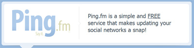 Social Media Management Tools: Ping.fm
