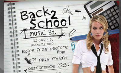 "10 Premium ""Back to School"" Flyer PSD Templates"