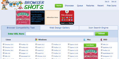 Browsershots Cloud Application