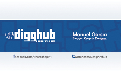 Free Digg Business Card Template (Back)