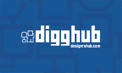 Free Digg Business Card Template (Front)