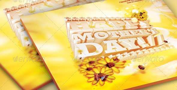 Mother's Day Church Flyer, Ticket and CD Template