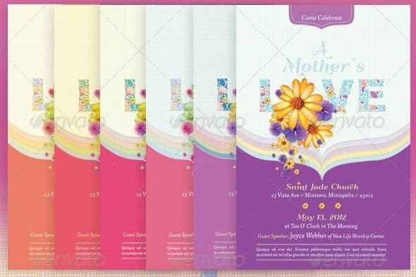 Lovely Happy MotherS Day Flyer Design Templates