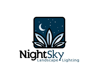 Nightsky Landscape Lighting Logo Design
