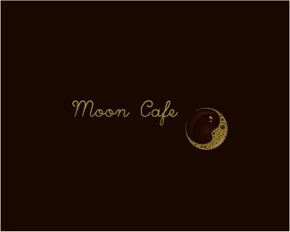 Moon Cafe Logo Design