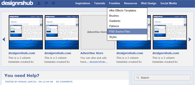 Free Facebook Blogger Template