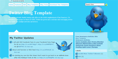 Twitter Free Blog Template