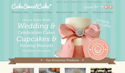 Textures in Web Design: Cake Sweet Cake