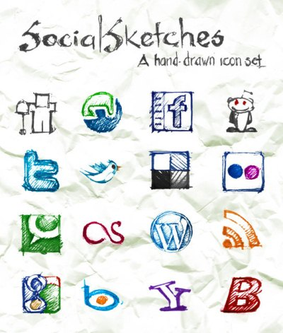 Social Sketches: Exclusive Free Sketch Icon Set