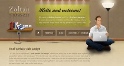 Textures in Web Design: Zoltan Hosszu