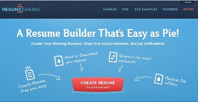 Textures in Web Design: Resume Baking