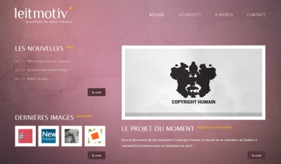 Textures in Web Design: Leitmotiv