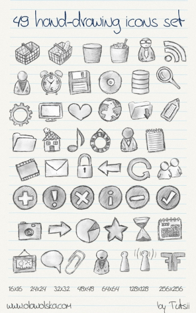 49 Drawing Icons Set