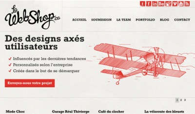 Textures in Web Design: La Web Shop