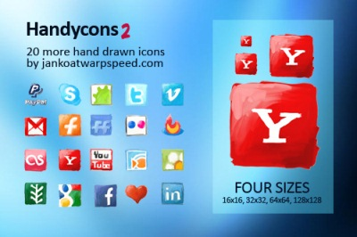 Handycons 2 - Another Free Drawing Icon Set