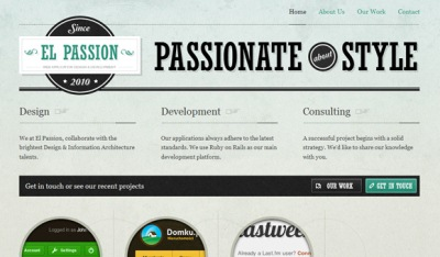Textures in Web Design: El Passion