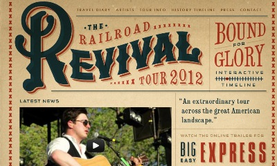 Textures in Web Design: Railroad Revival Tour